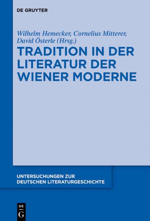 Tradition in der Literatur der Wiener Moderne cover