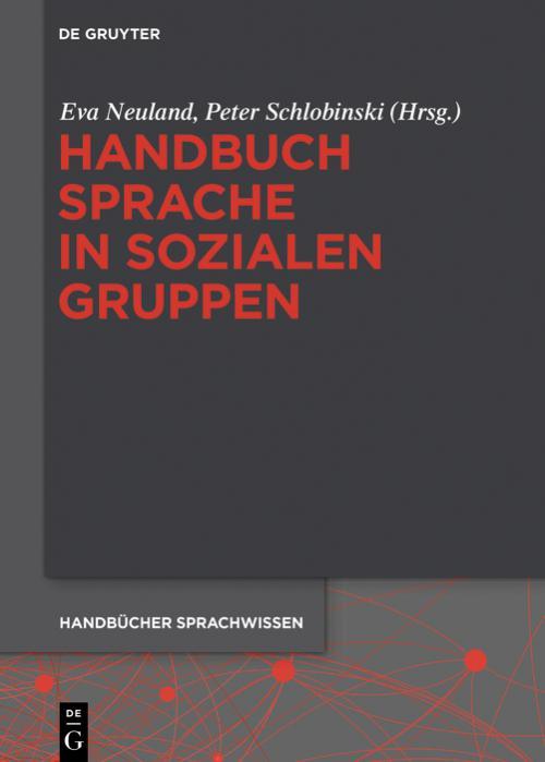 Handbuch Sprache in sozialen Gruppen cover