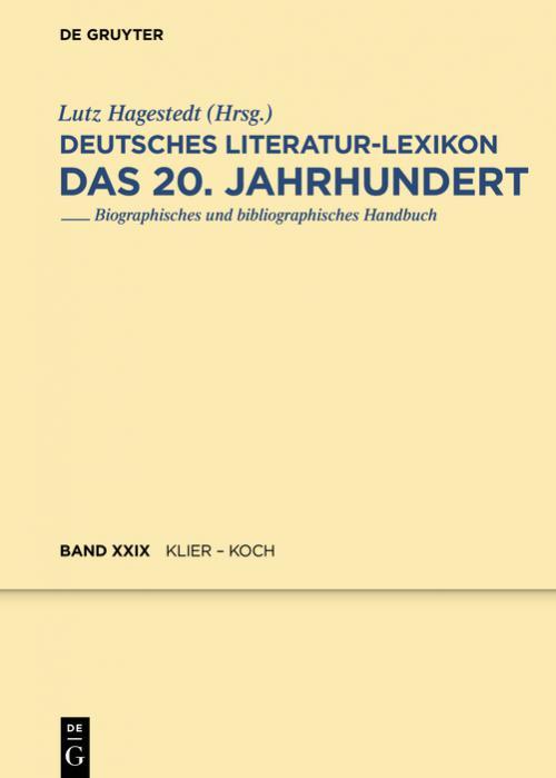 Klabund / Klier - Koch, Julius cover