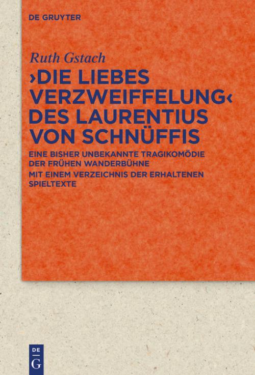 >Die Liebes Verzweiffelung< des Laurentius von Schnüffis cover
