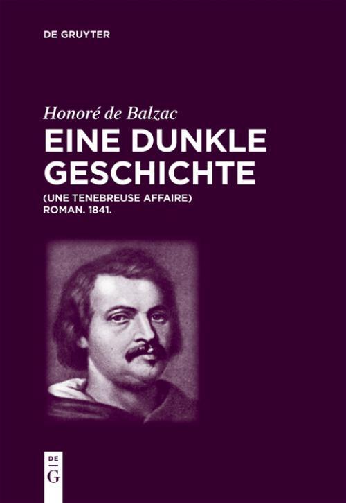 Honoré de Balzac, Eine dunkle Geschichte cover