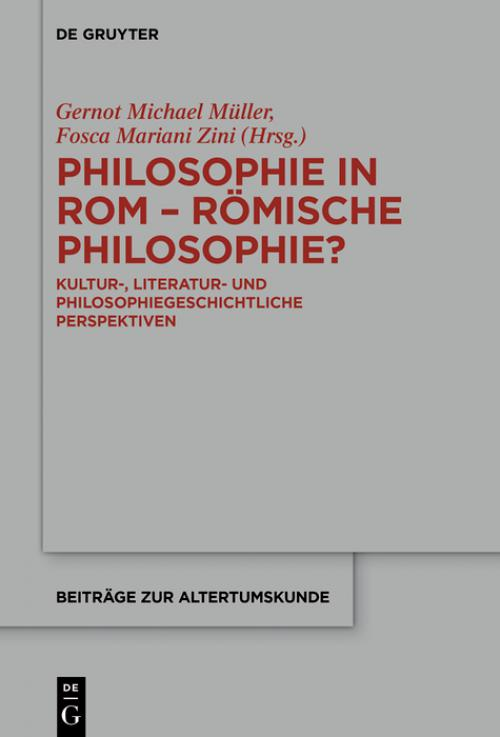 Philosophie in Rom - Römische Philosophie? cover