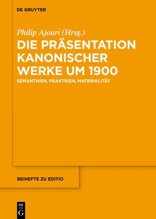 Die Präsentation kanonischer Werke um 1900 cover