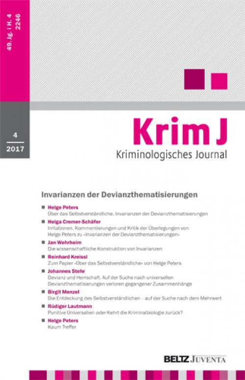Editorial: Selbstreflexion als Element kritischer Wissenschaftlichkeit cover