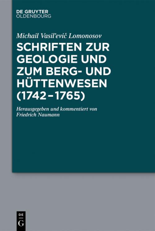 Schriften zur Geologie und zum Berg- und Hüttenwesen (1742-1765) cover