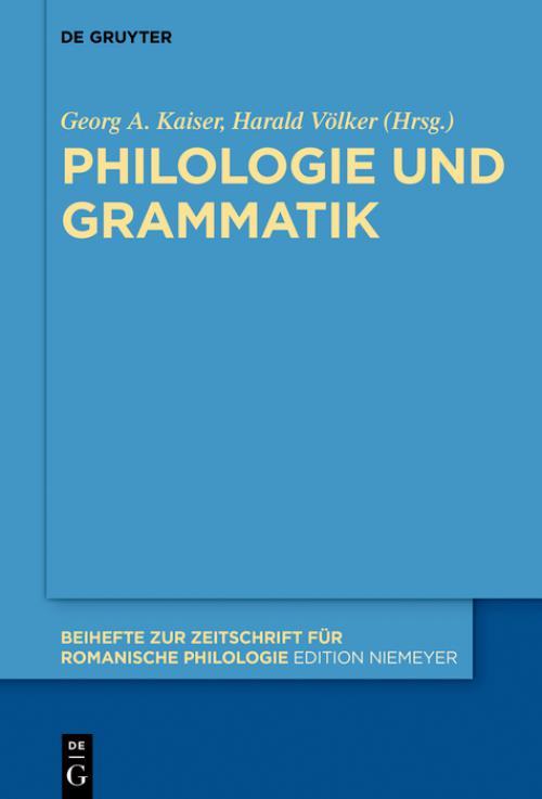 Philologie und Grammatik cover
