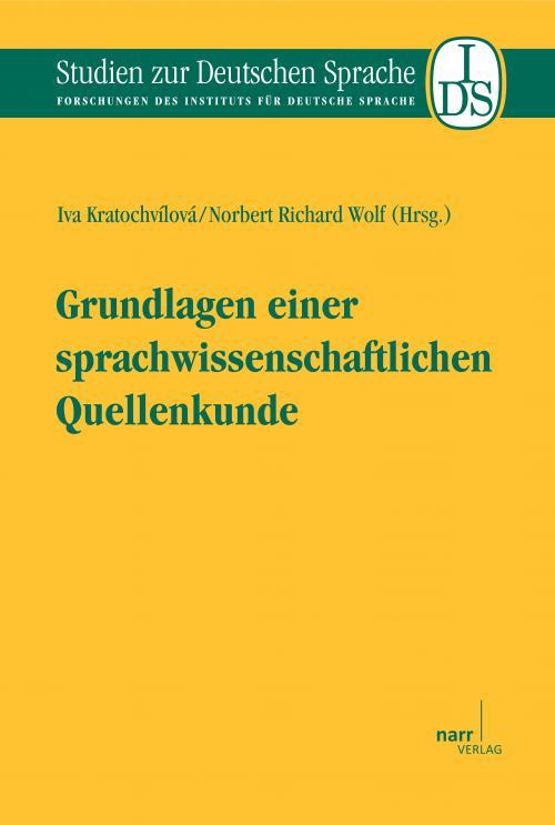 Grundlagen einer sprachwissenschaftlichen Quellenkunde cover