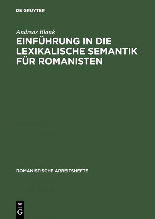 Einführung in die lexikalische Semantik für Romanisten cover