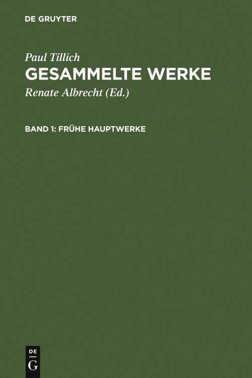 Frühe Hauptwerke cover