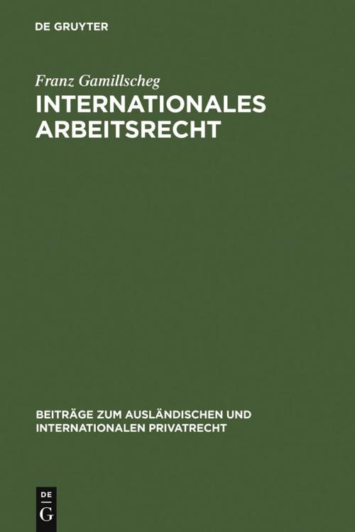 Internationales Arbeitsrecht cover
