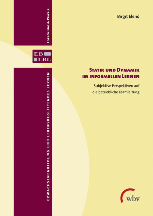 Statik und Dynamik im informellen Lernen cover