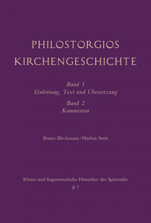 Philostorgios Kirchengeschichte cover
