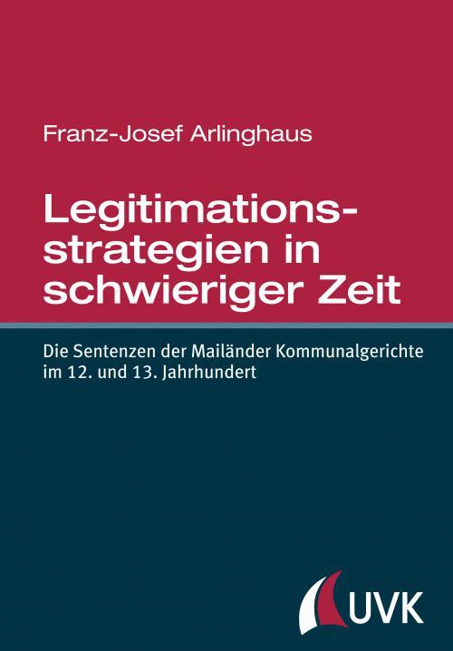 Legitimationsstrategien in schwieriger Zeit cover