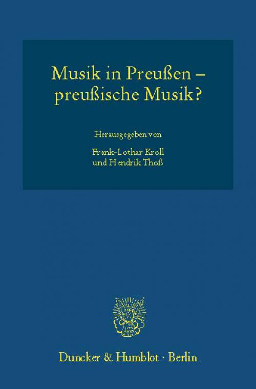 Musik in Preußen – preußische Musik? cover