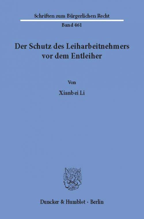 Der Schutz des Leiharbeitnehmers vor dem Entleiher. cover