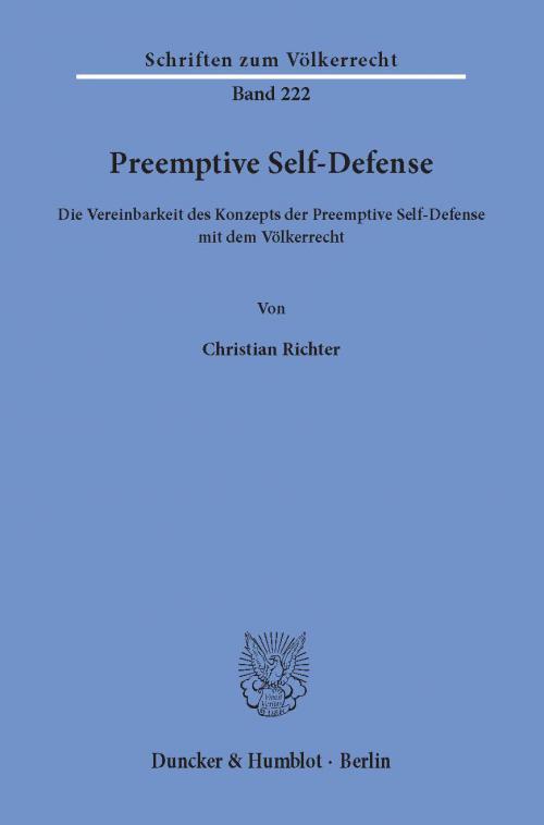 Preemptive Self-Defense. cover