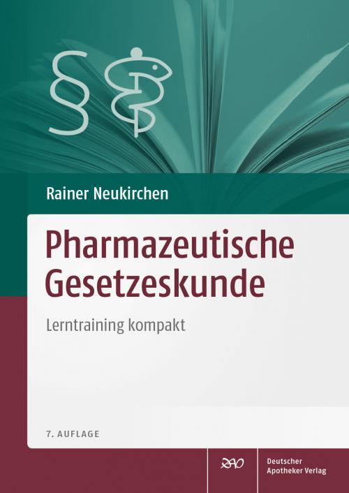 Pharmazeutische Gesetzeskunde cover