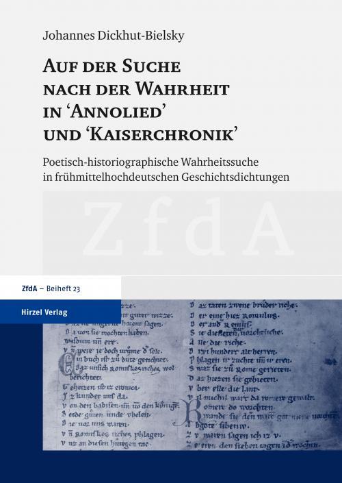 Auf der Suche nach der Wahrheit in Annolied und Kaiserchronik cover