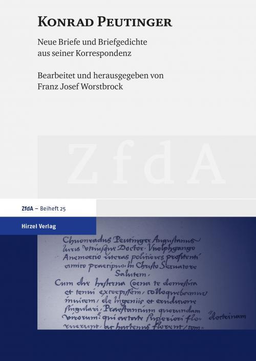 Konrad Peutinger cover