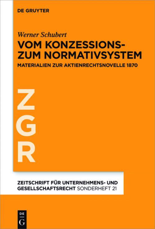 Vom Konzessions- zum Normativsystem cover