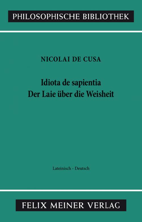 Schriften in deutscher Übersetzung / Der Laie über die Weisheit cover