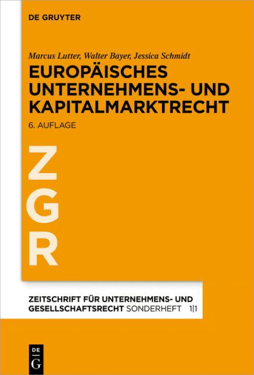 Europäisches Unternehmens- und Kapitalmarktrecht cover
